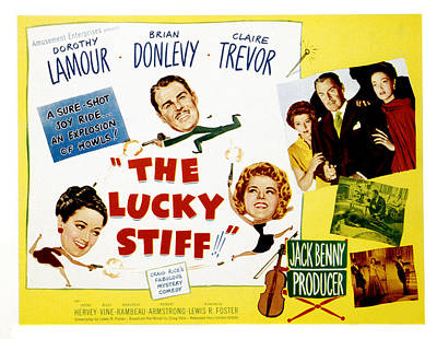 The Lucky Stiff, Brian Donlevy, Dorothy Art Print by Everett