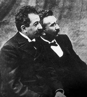 Lumiere Photograph - The Lumiere Brothers, Louis Jean by Everett