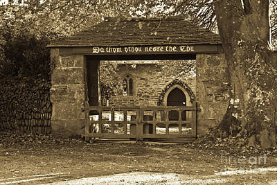 Photograph - The Lynch Gate by Brian Roscorla