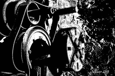 Arizona Artist Jeff Curtis Photograph - The Machines Of Men - 3 by Jephyr Art