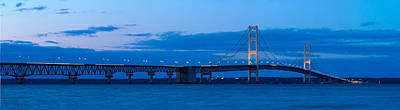 Michigan Mackinac Photograph - The Mackinac Bridge by Twenty Two North Photography
