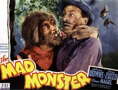 Horror Movies Photograph - The Mad Monster, Glenn Strange Left by Everett