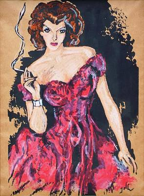 The Madame Art Print by JW DeBrock