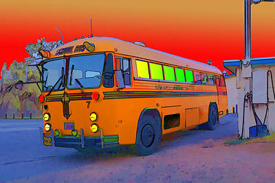 Photograph - The Magic Bus by Gregory Scott