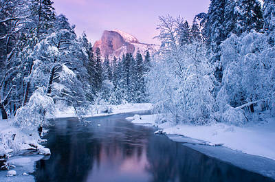 Landscape Photograph - The Magical Halfdome by Molly Wassenaar