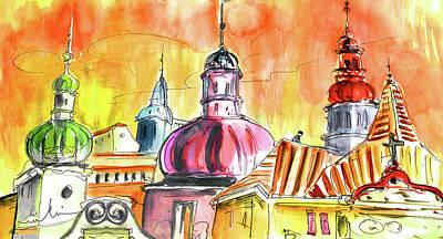 The Magical Roofs Of Prague 01 Bis Art Print by Miki De Goodaboom