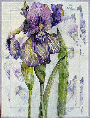Spring Bulbs Painting - The Magnificient Iris by Mindy Newman