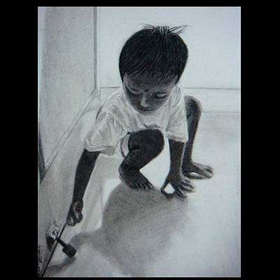 Drawing - The Maid's Nephew 2 by Mickey Raina