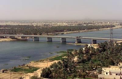 The Main Bridge In An Nasiriyah Iraq Art Print