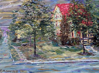 Painting - The Majestic Outing Club Lawn by Denny Morreale