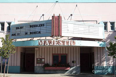 Benicia Photograph - The Majestic Theatre In Benicia California . 5d18781 by Wingsdomain Art and Photography