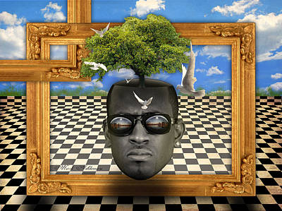 Human Beings Digital Art - The Man And The Tree  by Mark Ashkenazi