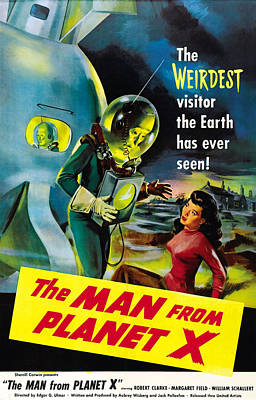 The Man From Planet X, Pat Goldin Art Print