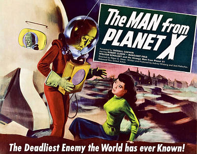 The Man From Planet X, Pat Goldin Title Art Print by Everett