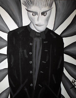 Man In Black Painting - The Man In Black by Jera Sky