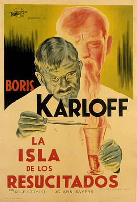 Postv Photograph - The Man With Nine Lives, Boris Karloff by Everett