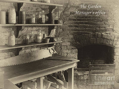 Heligan Photograph - The Managers Office Aged by Steev Stamford