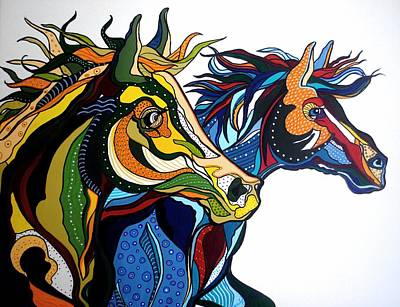 Nature Abstract Drawing - The Mane Attraction by Janis Hobbs