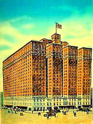 Painting - The Manger Hotel In New York City C.1920's by Dwight Goss