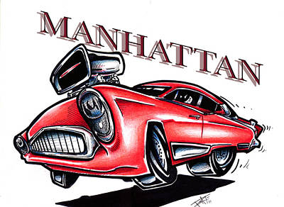 Mahattan Drawing - The Manhattan by Big Mike Roate
