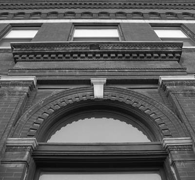 The Manley Popcorn Building Bw Art Print