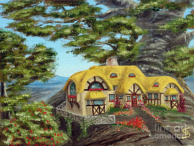 Sandru Painting - The Manor Cottage From Arboregal by Dumitru Sandru