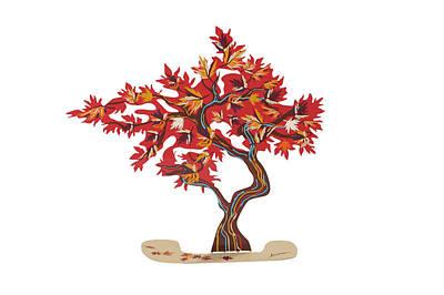 Marina Zlochin Mixed Media - The Maple Tree by Marina Zlochin
