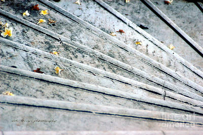 Print featuring the photograph The Marble Steps Of Life by Vicki Ferrari
