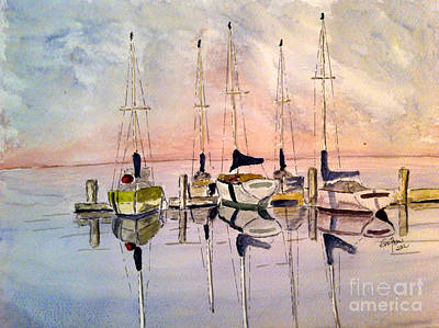 Painting - The Marina by Eva Ason