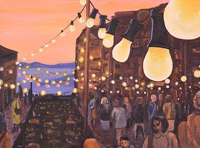 Painting - The Market At Dusk by Jennifer Lynch