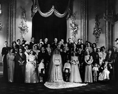 Duke And Duchess Photograph - The Marriage Of Princess Elizabeth by Everett