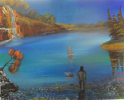 Ezekiel Painting - The Measuring Man by John Morris