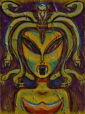 Roman Mixed Media - The Medusa by Russell Pierce