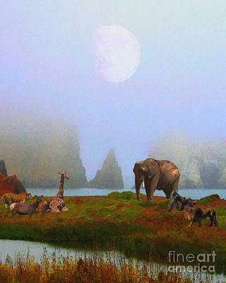 The Menagerie . Painterly Art Print by Wingsdomain Art and Photography
