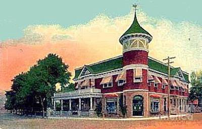 Painting - The Midland Park Hotel In Grant City Staten Island N Y In 1910 by Dwight Goss