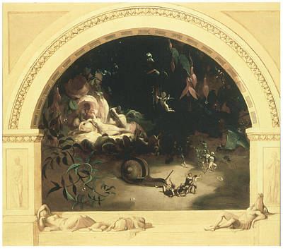 The Midsummer Night's Fairies Art Print by Robert Huskisson