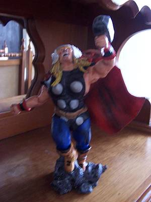 Sculpture - The Mighty Thor by Luis Carlos A