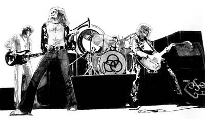 Led Zeppelin Drawing - The Mighty Zep by Anthony Warner