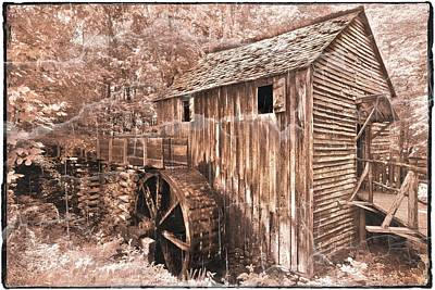 The Mill At Cade's Cove Art Print by Debra and Dave Vanderlaan