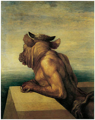 Minotaur Painting - The Minotaur by George Frederic Watts