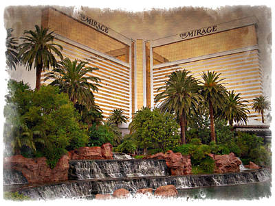 Photograph - The Mirage - Impressions by Ricky Barnard