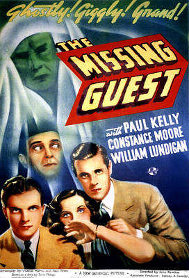 Horror Movies Photograph - The Missing Guest, William Lundigan by Everett