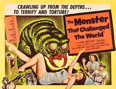 1950s Movies Photograph - The Monster That Challenged The World by Everett