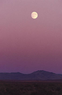 Alvord Desert Wall Art - Photograph - The Moon Shines Over The Landscape by Melissa Farlow