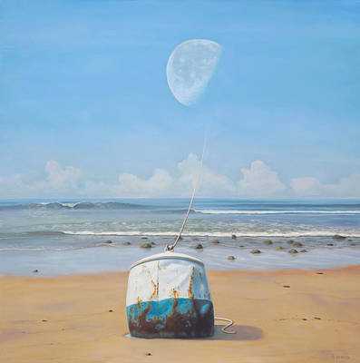 Metaphysical Realism Painting - The Mooring by Paul Bond