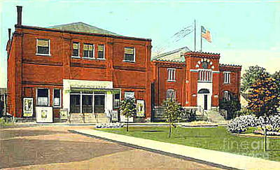 Painting - The Moose Theatre And Armory In Norwalk Oh In The 1920's by Dwight Goss