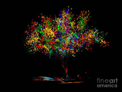 Computer Design Digital Art - The Most Colorful Tree Of The World by Klara Acel