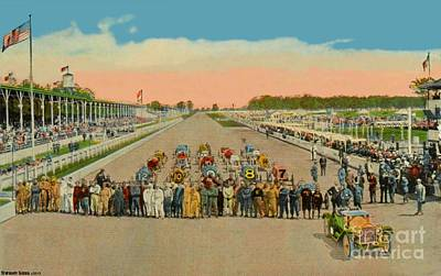 Painting - The Motor Speedway In Indianapolis In Circa1910 by Dwight Goss