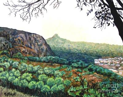Kabala Painting - The Mountain Above Kabala Sierre Leone by Caroline Street