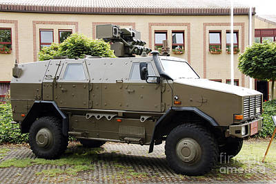 The Multi-purpose Protected Vehicle Art Print by Luc De Jaeger